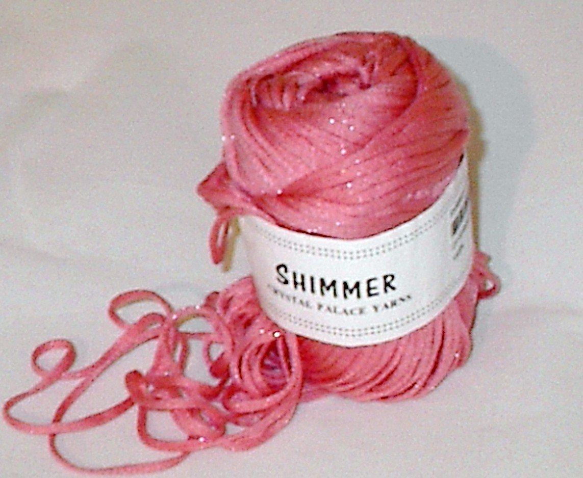 Crystal Palace Shimmer #2846 Strawberry Yarn