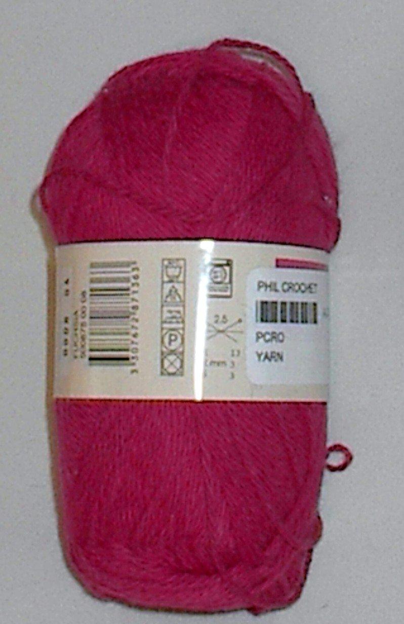 Phildar Phil Crochet Cotton Yarn Fuchsia (#0008)