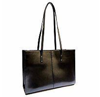 Wilsons Leather Icon Black Laptop Bag Tote Purse Handbag