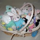 Lined Easter Bunny Basket Collectibles Playful Plush