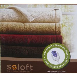 Sleep Philosophy Luxury Heated Throw with 3 Heat Setting Taupe 50 X 60 Inches