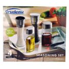 Trudeau Salt & Pepper Mills with Oil & Vinegar Dispensers Seasoning Set