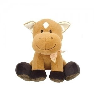 Animal Adventure 12 inch FarmSitters Plush Brown Horse