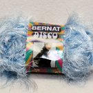 Bernat Disco Sparkle Blue Eyelash Yarn 68128