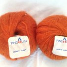 Pingouin Soft Hair Mohair Yarn 0047 Orange