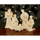 Collectible Lenox Innocence Nativity 6 Piece Holy Family Set