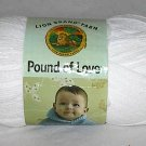 Lion Brand Pound of Love Color #100 White 454g 1020 yds