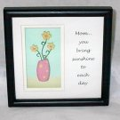 Mother's Day Ganz Gift Shadow Box Wall Plaque You Bring Sunshine to Each Day