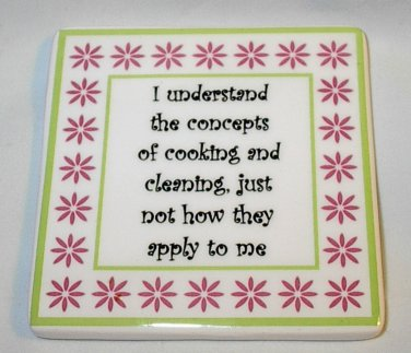 Mother's Day Funny Women's Humor Novelty Gift Magnet Concept of Cooking Cleaning
