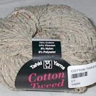Tahki Cotton Tweed Worsted Italian Yarn #001 Tan