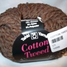 Tahki Cotton Tweed Worsted Italian Yarn #002 Cocoa Brown