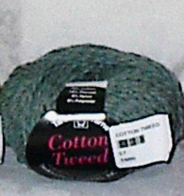 Tahki Cotton Tweed Worsted Italian Yarn #004 Green