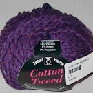 Tahki Cotton Tweed Worsted Italian Yarn #007 Purple