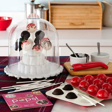 Nordic Ware Cake Pops Kit Dome Stand Unique Pan Bakes 12 Round Cakes Fast & Easy