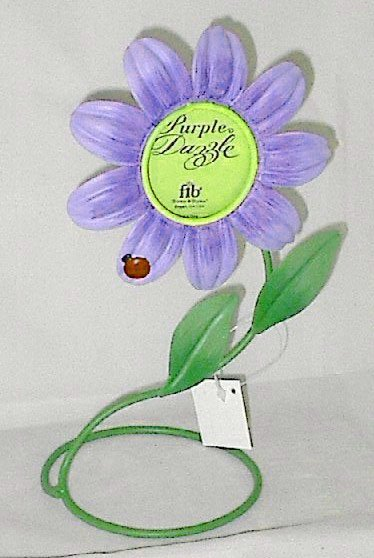 Purple Dazzle Metal Flower Picture Frame