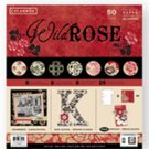 "Colorbok Wild Rose 50 Sheet 12""x12"" Premium Scrapbook Craft Paper"