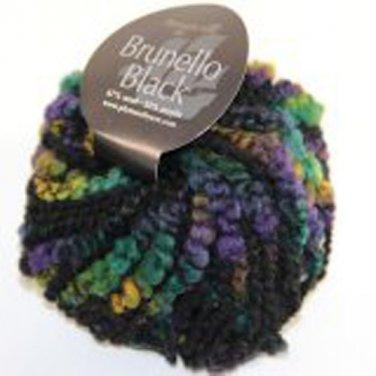 Plymouth Yarn Brunello Black Wool Blend Super Bulky Yarn Mardi Gras 1061 Loom Knit Crochet