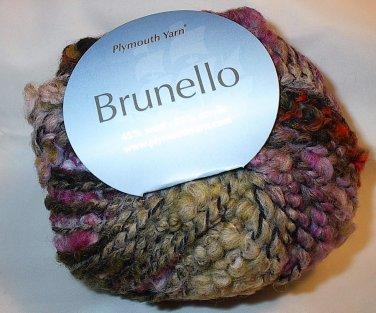 Plymouth Yarn Brunello Black Wool Blend Super Bulky Yarn Purple Moss 3000 Loom Knit Crochet