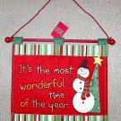 Burton & Burton Felt Christmas Wall Hanging Most Wonderful Time