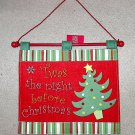 Burton & Burton Felt Christmas Wall Hanging Twas the Night Before Christmas