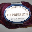 Plymouth Yarn Expression Wool Blend Super Bulky Yarn Red Wine 3665 Loom Knit Crochet