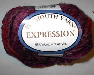 Plymouth Yarn Expression Wool Blend Super Bulky Yarn Red Wine 3665 Loom Knit Crochet