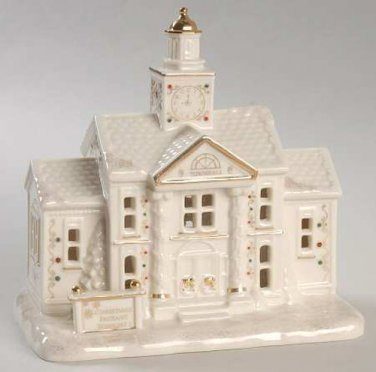 Lenox Mistletoe Park Village Town Hall with Clock Tower New In Box