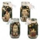 Betty Caithness Winter Village Lighted Glass Jar Collection XMAS
