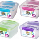 Sistema Lunch Plus To-Go 40.5 oz BPA Free Container w Snap Utensils DW MW Safe