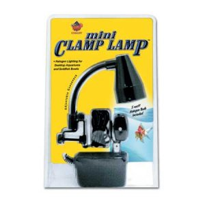 MINI CLAMP LAMP FIXTURE WITH 5 WATT HALOGEN BULB