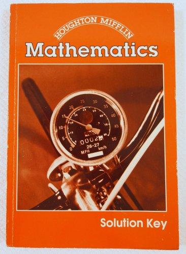 Houghton Mifflin Mathematics Solution Key 0395324254