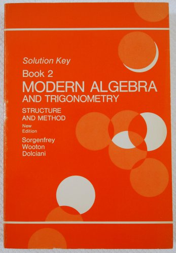 solution key to modern algebra and trigonometry structure and method book 2 0395144582. Black Bedroom Furniture Sets. Home Design Ideas