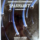 Part I Instructor's Solutions Manual Calculus and Analytic Geometry 7th Edition 0201163233