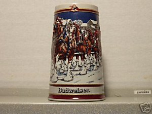 BUDWEISER 1 CS89 1989 HOLIDAY WINTER EVENING #10 MUG