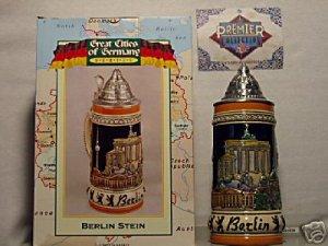 BUDWEISER CS328 1997 GERMANY BERLIN STEIN MUG