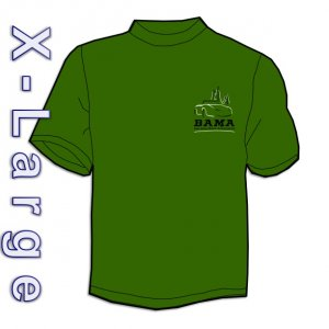 BAMA Logo Tee-shirt (Lg - Dark Green)