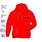 BAMA Full Zip Hooded Sweatshirt (XLg - Red)