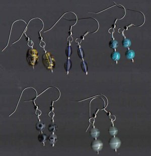 Dangle Glass Earrings Lot of 5!