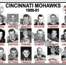 1950-51 AHL CINCINNATI MOHAWKS  HEADSHOTS TEAM PHOTO