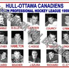 1959-60 EPHL HULL-OTTAWA CANADIENS HEADSHOTS PHOTO
