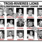 1959-60 EPHL TROIS-RIVIERES LIONS HEADSHOTS PHOTO
