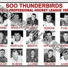 1959-60 EPHL SOO THUNDERBIRDS HEADSHOTS TEAM PHOTO