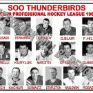 1960-61 EPHL SOO THUNDERBIRDS HEADSHOTS TEAM PHOTO