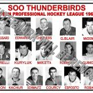 1961-62 EPHL SOO THUNDERBIRDS HEADSHOTS TEAM PHOTO