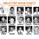 1966-67 FORT WAYNE KOMETS HEADSHOTS TEAM PHOTO