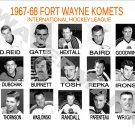 1967-68 FORT WAYNE KOMETS HEADSHOTS TEAM PHOTO