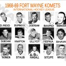 1968-69 FORT WAYNE KOMETS HEADSHOTS TEAM PHOTO
