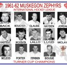 1961-62 MUSKEGON ZEPHYRS HEADSHOTS TEAM PHOTO