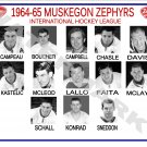 1964-65 MUSKEGON ZEPHYRS HEADSHOTS TEAM PHOTO