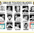 1964-65 TOLEDO BLADES IHL HEADSHOTS TEAM PHOTO
